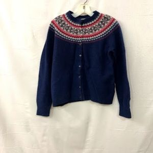Ll Bean Ugly Sweater Button Front Cardigan